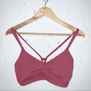 Fabletics Sports Bra Pink with Double Strap Support No Padding